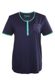 Kurzer Pyjama mit gepunkteter Tasche