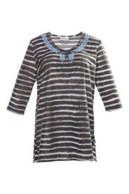 Shirt-Tunika mit Perlenstickerei