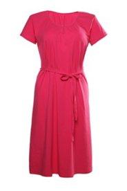Kleid mit Gürtel und Elasthan