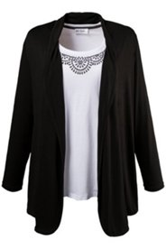 Shirtjacke mit Elasthan, offenes Modell,