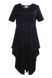 Kleid im Lagen-Look, weites Modell mit Elasthan
