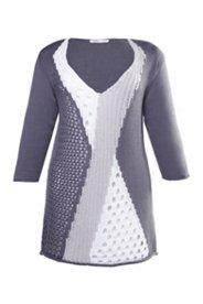 Pullover mit vorteilhaftem Muster, Biobaumwolle