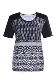 Shirt mit Ethno-Muster, A-Linie