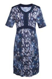 Kleid im Patch-Look, ausgestellte Form