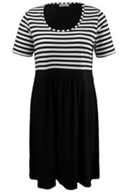 Jerseykleid, 2-in-1-Look, A-Linie