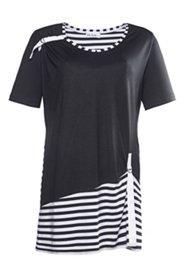 Longshirt mit Zierband und Elasthan, A-Linie