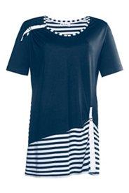 Longshirt mit Zierband und Elasthan