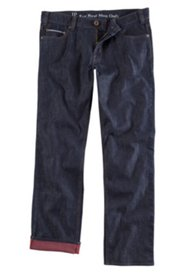 5-Pocket-Jeans, Regular Fit,  mit roter Innenseite