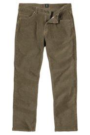 Cordhose, Regular Fit, khaki, Stretch-Komfortbund