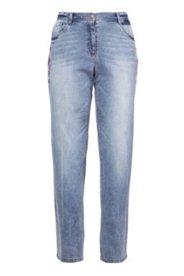 Boyfriend-Jeans mit Stickerei, 5-Pocket-Form