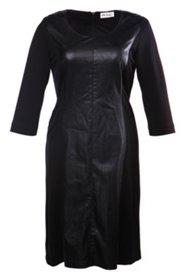 Kleid in Lederoptik, mit Elasthan