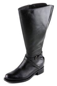 Stiefel mit XXL-Schaft und Stretcheinsatz, Weite H