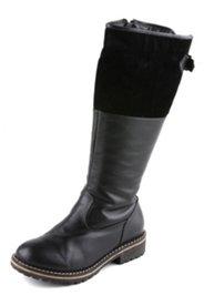 Stiefel aus Nappa- und Veloursleder, Weite H