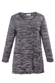 Pullover mit Taschen und Details in Lederoptik