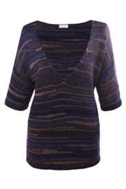 Strick-Pullover, weites Modell mit 3/4-Ärmeln