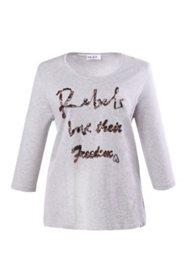 Shirt mit Pailletten-Schriftzug