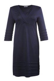 Kleid mit Biesen und Elasthan, A-Linie