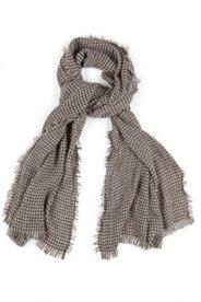 Schal mit gewebtem Hahnentritt-Muster