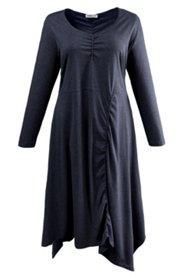 Kleid, aufwendige Drapierung, Bio-Baumwolle