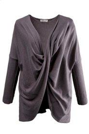 Pullover, drapiertes Vorderteil, Bio-Baumwolle