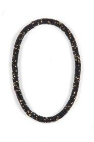 Flexi-Kette ohne Verschluss, schwarz-gold