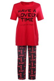 Pyjama mit Schriftzug, 100% Baumwolle