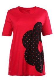 Pyjama mit großer Blüte, 100 % Baumwolle