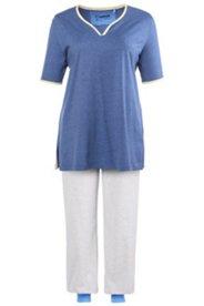 Pyjama mit Taschen und Herzausschnitt
