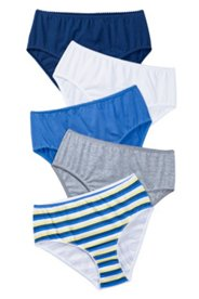Slips, 5er-Pack, blau/weiß