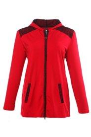Homewear-Jacke mit Spitzendetails