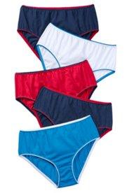 Slips, 5er-Pack, rot-weiß-blau