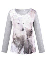 Shirt, Motiv Wolf, Rundhals