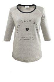 Sweatshirt mit Schriftzug und Raglanärmeln