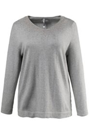 Pullover mit Goldstaub-Effekt, V-Ausschnitt