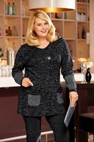 Pullover mit Metallic-Effekt, langes Modell