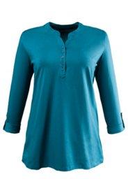 Shirt mit Stehkragen, A-Linie