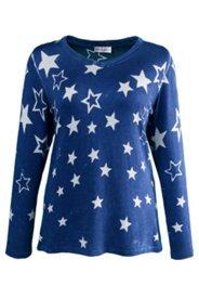 Pullover mit Sternenmuster, V-Ausschnitt