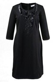 Abendkleid mit Ziersteinen und Pailletten, A-Linie