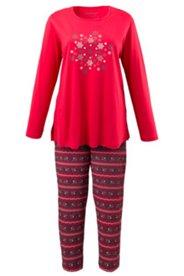 Pyjama mit Schneeflockenmotiv