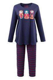 Pyjama, Motiv Babuschka, 100 % Baumwolle