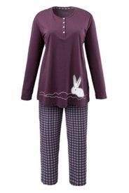 Pyjama, Motiv Schneehase, 100 % Baumwolle
