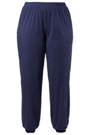Pyjama-Hose mit Spitzenkante