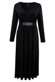Kleid mit Strassmotiv, Stretch