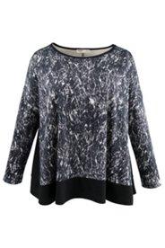 Shirt mit Schwarz/Weiß-Druck
