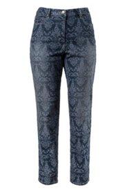 Jeans mit Barockmuster, schmales Bein