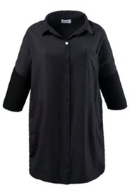 Bluse, langes Modell in O-Silhouette