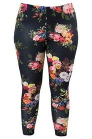 Leggings mit Blütenmuster, Stretch