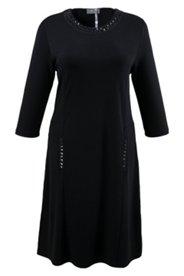 Kleid mit Schmucksteinen, körpernahe A-Linie