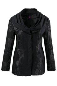 Jacquard-Jacke mit Blütenmuster und Stretchkomfort