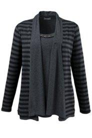 2-in-1-Shirt mit Schalkragen und Stretchkomfort